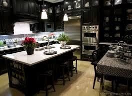black kitchen cabinet ideas kitchens with black cabinets home design ideas and pictures
