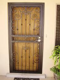 Steel Exterior Security Doors Steel Security Doors In Las Vegas With Contemporary Design Theme