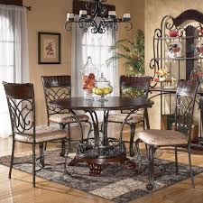 Wrought Iron Kitchen Tables by Tuscan Style Dining Room With Wood And Wrought Iron Round Kitchen