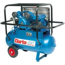 clarke industrial electric driven air compressors information