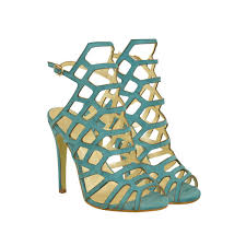 mint green suede ankle strap high heel stilettos cut out peep toe