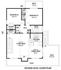 contemporary style house plan 2 beds 1 00 baths 868 sq ft plan
