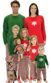 matching family pajamas stripe family