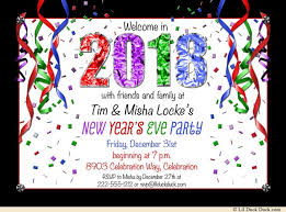 new years streamers new years party invitations 2018 style custom colors