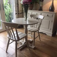 Shabby Chic Dining Table Sets Shabby Chic Small Dining Table And 2 Chairs Painted In Sloan