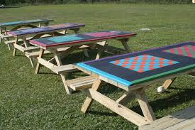 Plans For Building A Children S Picnic Table by Best 20 Picnic Table Paint Ideas On Pinterest U2014no Signup Required