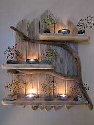 Home Shelving Charming Natural Genuine Driftwood Shelves Solid Rustic Shabby