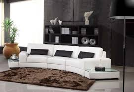 canap arrondi deco in canape d angle arrondi cuir noir atlanta can