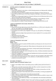 property manager resume assistant property manager resume sles velvet