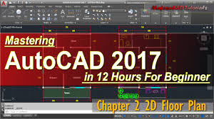 auto use floor plan autocad 2017 2d floor plan tutorial for beginner course chapter