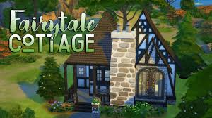 fairytale cottage a sims 4 speed build youtube