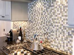 Glass Kitchen Tile Backsplash Ideas Kitchen Backsplash Cube Glass Tile Backsplash For Modern Kitchen