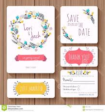 Rsvp Invitation Card Wedding Invitation Card Set Thank You Card Save The Date Cards
