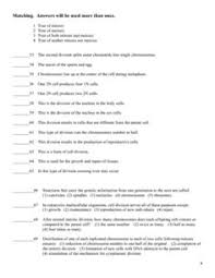 Meiosis Matching Worksheet Answers 16 Best Images Of Meiosis Practice Worksheet Meiosis And Mitosis