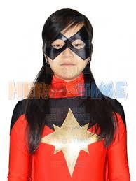 Ms Marvel Halloween Costume Comics Ms Marvel Red Spandex Superhero Costume