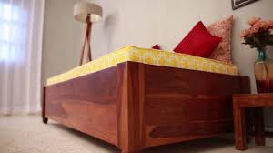 Solid Teak Wood Furniture Online India Divan Online Adriana Divan Online In India Wooden Street Youtube
