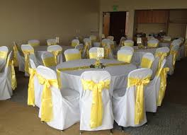 yellow chair sashes yellow chair covers drew home