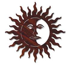 exclusive design sun and moon metal wall outdoor shop
