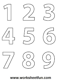 numbers colouring sheets 09 d u0027s prek pinterest numbers math