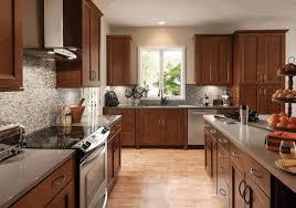 Light Wood Kitchen Cabinets Kitchen With Light Wood Floors Round Shine Glass Pendant Lamp Gray