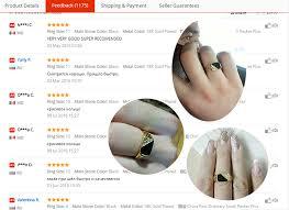 mens rings finger images Ajojewel size 7 12 classic gold color rhinestone men ring black jpg