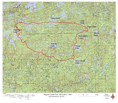 Ou Map Map Of The Pagami Creek Fire Wtip North Shore Community Radio
