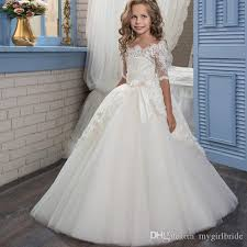 dresses for communion the shoulder lace communion dresses with sleeves junior