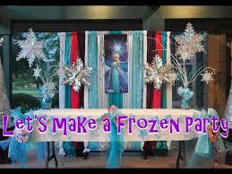 Disney Frozen Christmas Window Decorations by Let U0027s Make A Disney Frozen Theme Party Youtube