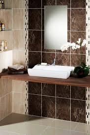 best images about bathroom design ideas pinterest bathroom simple modern tile ideas with brown for wall and light grey ceramic flooring completed vessel sink