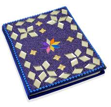 buy blue indian home decor lac beaded diary designer mirror