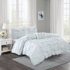 com madison park harlow 4 piece duvet cover set full queen white home kitchen