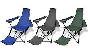 chaises pliables set de 2 chaises pliables de cing avec repose pied groupon shopping