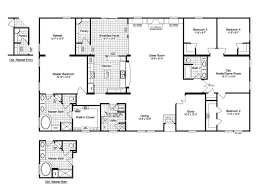 4 bedroom 3 bath house plans view the evolution triplewide home floor plan for a 3116 sq ft