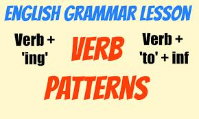 verb pattern of like intermediate english grammar verb patterns verb ing verb to