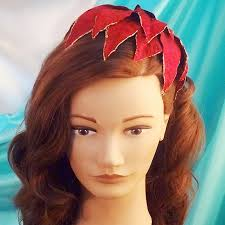 christmas hair accessories poinsettia petals hat vintage christmas hair accessories