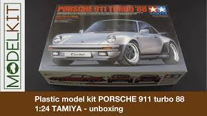 porsche 911 model kit plastic model kit porsche 911 turbo 88 1 24 tamiya unboxing