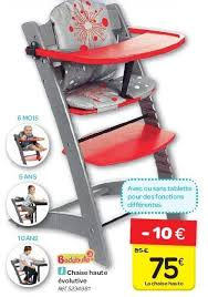 chaise volutive badabulle carrefour promotion chaise haute évolutive badabulle chaise