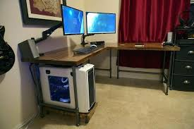 Computer Built Into Desk Computer Built Into Desk Plans Built In Desk Plans In Desk Plans