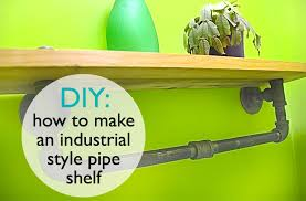 diy how to make a steam punk shelf out of inexpensive pipe