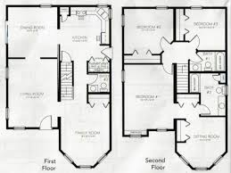 crafty design ideas simple 4 bedroom 2 story house plans 12 17