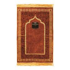 muslim prayer rug 2 3 u0027 x 3 6 u0027 gold tan and brown color tassels