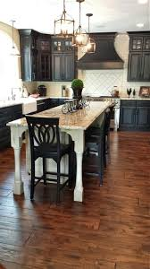 Islandas Well As A Kitchen Table Kitchen Wooden Varnished Kitchen Island Modern Kitchen