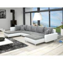 canapé luxe tissu meublesline canapé d angle 5 places luxe tissu chocolat beige