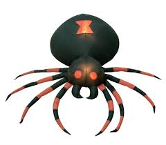 amazon 4 foot wide halloween inflatable black spider yard