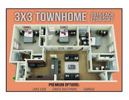 Townhome Floorplans Gallery The Barracks Townhomes Best Student Apartments Bryan