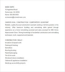 Store Assistant Resume Sample by Carpenter Resume Template U2013 9 Free Samples Examples Format