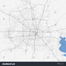 Texas City Map Map Houston City Texas Roads Stock Vector 532347637 Shutterstock