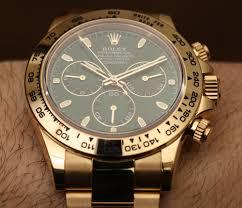 Daytona Modern Dark Grey Eco Rolex Cosmograph Daytona 116508 Green Dial 18k Yellow Gold Watch