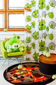 cute angry bird bathroom shower curtain for kids amidug com