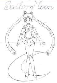 sailor moon sketch by sontaichou on deviantart